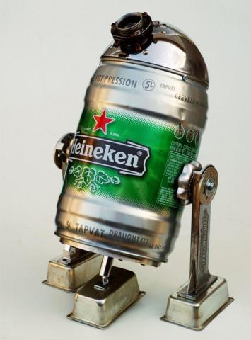 Help us, Heineken R2D2...  You're our only hope!