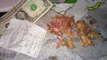 I gave Subway ten bucks and got back a dollar and a pile of boogers on a bun
